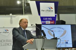 Jean Pierre Audoux, DG de l FIF pendant son allocution